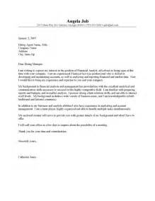 Finance Cover Letters by Financial Analyst Resume Cover Letter