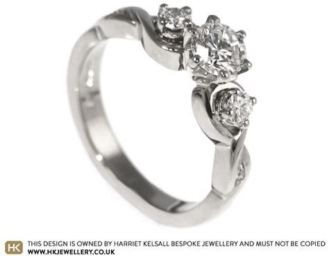 Handmade Engagement Rings Uk - handmade white gold celtic inspired engagement ring