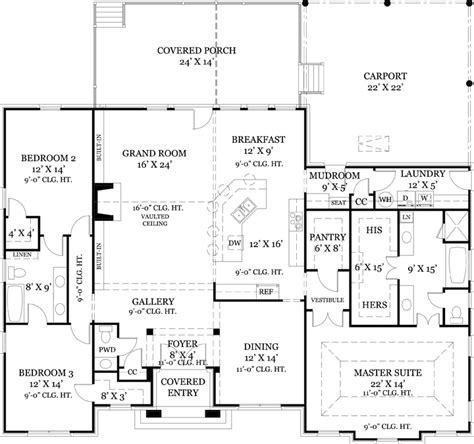 old floor plans old wesley 4437 3 bedrooms and 2 baths the house designers