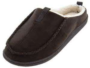 clog slippers for izod brown micro suede clog slippers for