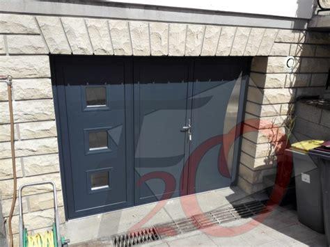porte de garage 3 vantaux porte garage battante 3 vantaux porte integree insert inox