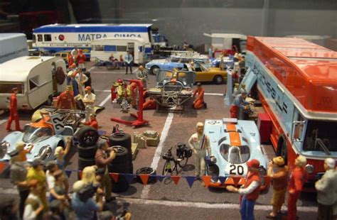 1970 Le Mans Paddock Diorama from Chrono 43   Scale143.com
