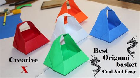 origami basket easy origami paper basket how to make easy paper basket for