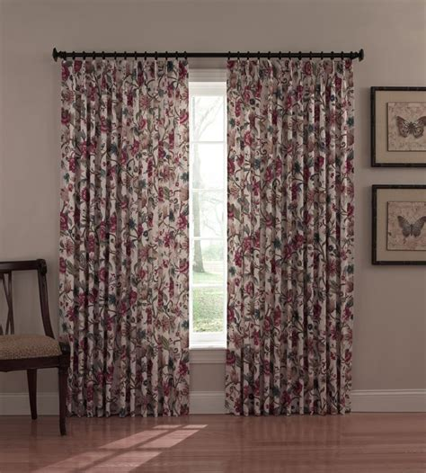 pleated thermal drapes thermal insulated drapes cornwall floral drapes jacobean