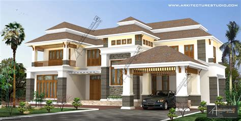 colonial home designs colonial style house designs in kerala at 3500 sqft 5000 sqft