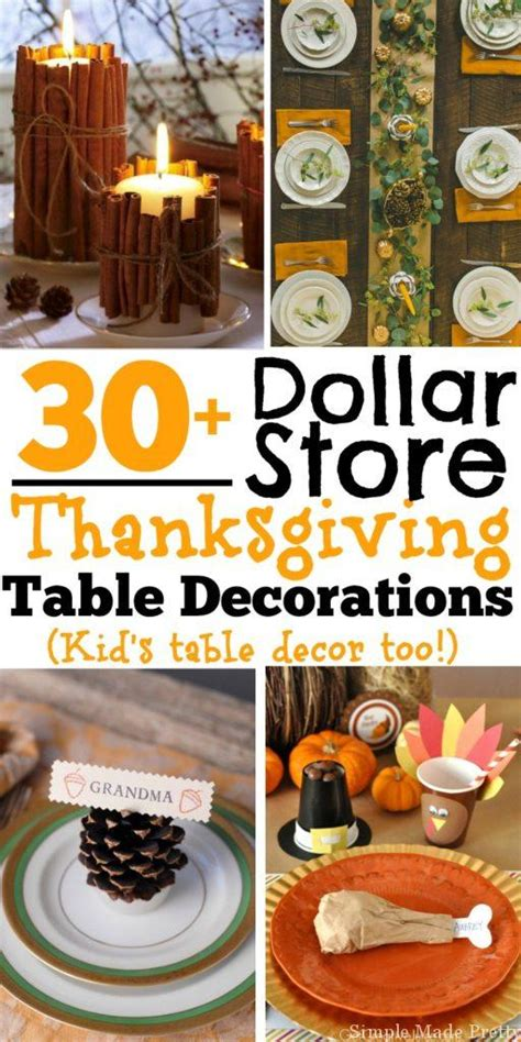 cheap thanksgiving table decorations 30 diy and dollar store thanksgiving table decorations