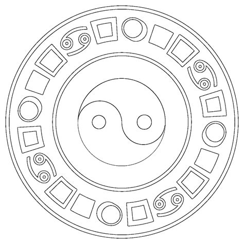 Coloring Pages Of Japanese Symbols | japanese religion coloring pages