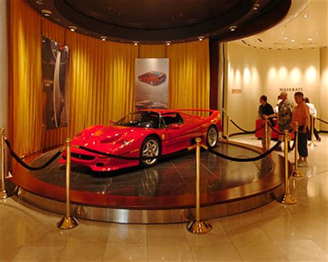 ferrari dealership inside wynn hotel lobby inside the wynn las vegas