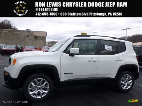 jeep renegade white 2017 alpine white jeep renegade latitude 4x4 117509623