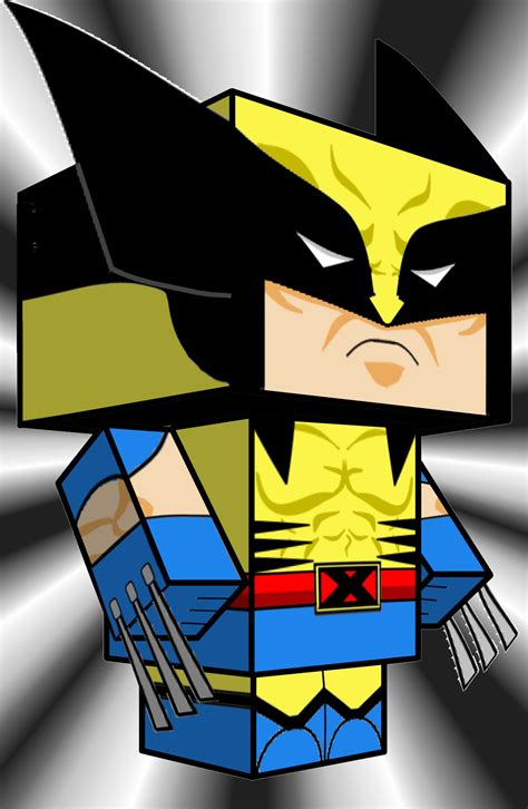 wolverine cube craft ver 3 free paper papertoy