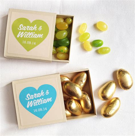 Personalised Wedding Favours by Personalised Chocolate Wedding Favours By Gift