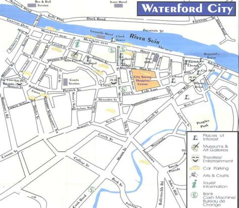 map of waterford city waterford map
