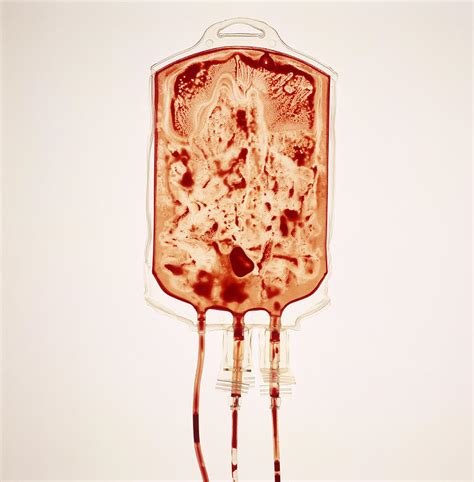 empty blood bag photograph by kevin curtis