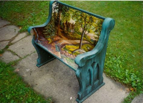 hand painted garden benches 319 best images about whimsical diy on pinterest rocking