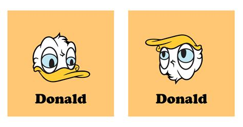 Donald Duck Face Meme - who knew that if you turned donald duck upside down you