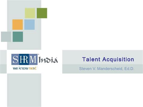 Talent Acquisition Project For Mba by Hr Knowledge Talent Acquisition Shrm India