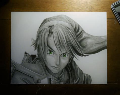 drawing of a link drawing by joezart on deviantart