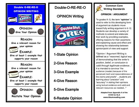 oreo opinion writing writing pinterest opinion