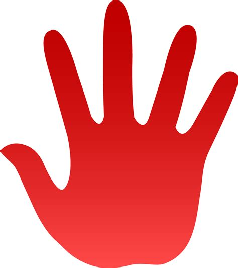 red hands red hand print free clip art cliparts co