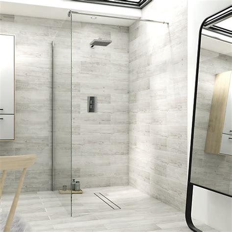 wickes single fix frameless shower screen mm wickes