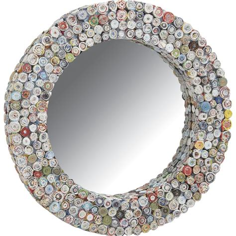 Home Decor From Recycled Materials Miroir Rond En Papier Recycl 233 Nmi1400v Aubry Gaspard