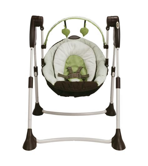 graco swing green graco swing by me portable swing go green