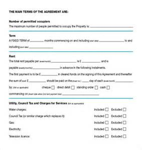 Free Tenancy Agreement Template Download rental agreement templates 15 free word pdf documents