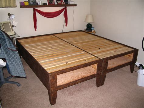 Diy Storage Bed Frame Diy Bed With Storage For 100