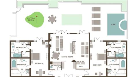 2 Bedroom Villa Floor Plans by Two Bedroom Villa The Mirage