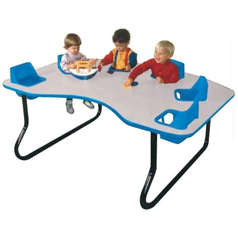 Toddler Tables Kidney Toddler Table 6 Seat 6 Seat Infant Feeding Table