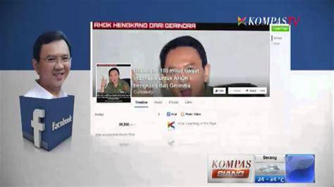 ahok youtube oktober 2014 pro kontra pengunduran diri ahok dari gerindra kompas