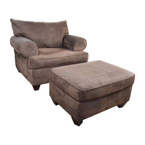 sofa chair ottoman 67 off dark brown sofa chair with ottoman chairs