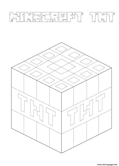 Minecraft Tnt Block Template by 40 Printable Minecraft Coloring Pages