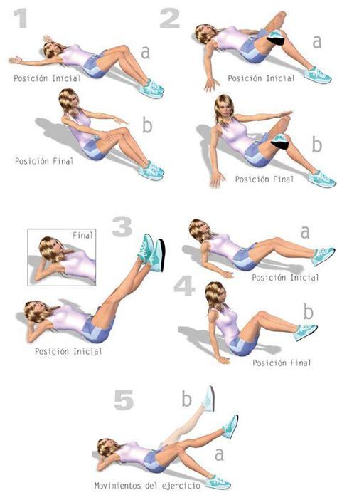 imagenes de ejercicios para workout ejercicios para reducir cintura exerc abd core pinterest