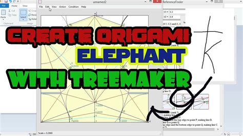 Treemaker Origami - create origami elephant with treemaker tutorial how to