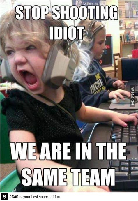 Angry Girl Meme - angry little gamer funny stuff laughter and memes