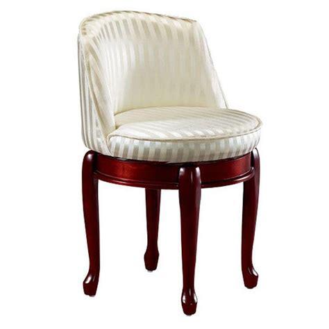 home decorators collection delmar ivory stripe swivel vanity stool   home depot