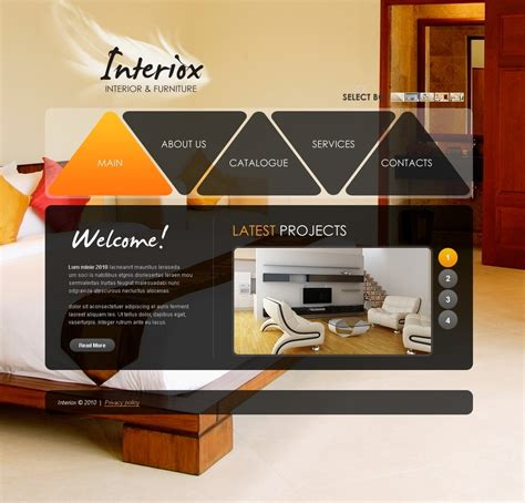 furniture design templates interior furniture website template web design