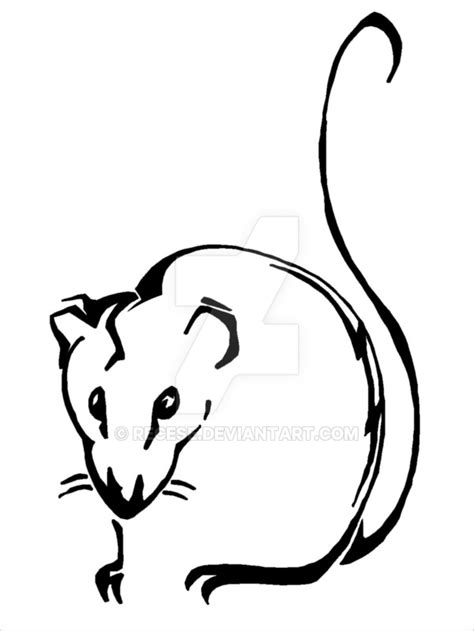 simple rat tattoo rat tattoo by recese on deviantart