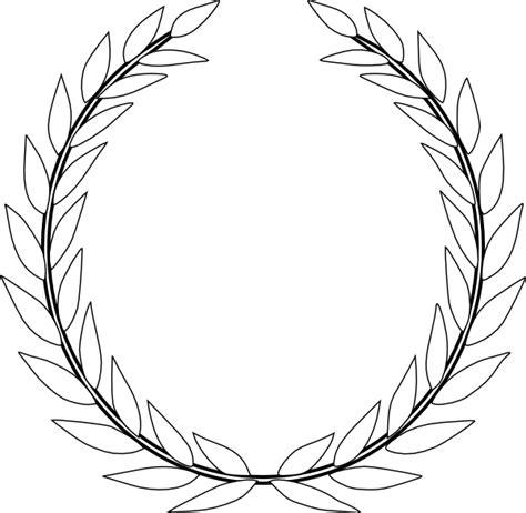 printable leaf crown green olive branch cd clip art at clker com vector clip