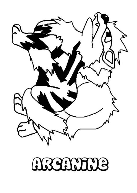 pokemon coloring pages growlithe growlithe coloring pages arcanine page pokemon grig3 org