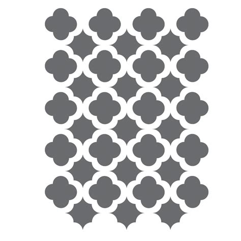 moroccan trellis tile stencils template for crafting