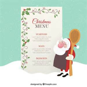 menu template with mistletoe decoration vector