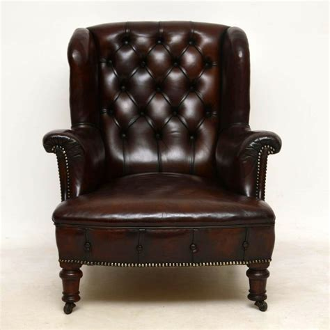 victorian leather armchair antique victorian leather armchair marylebone antiques
