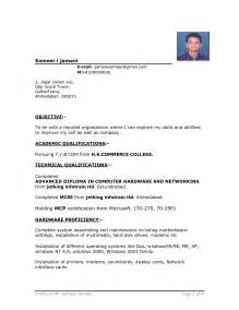 Resume Templates Word India Indian Resume Format In Word File Free Bongdaao
