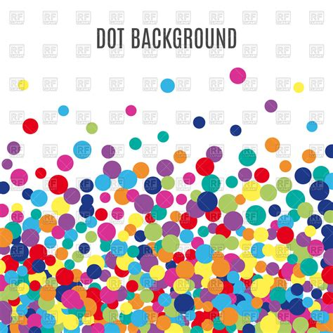 colorful dots colorful dots background vector image 126878 rfclipart