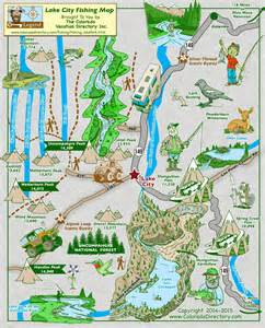 map of lake city colorado lake city fishing map colorado vacation directory