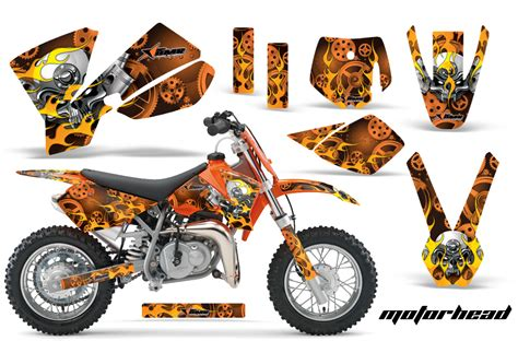Ktm 50 Graphics Kit 2002 2008 Ktm Motocross Graphic Decal Sticker Kit Ktm Mx
