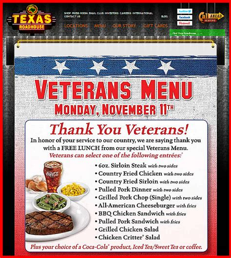 Road House Eat Free by Veterans Eat Free At Many Restaurants This Veterans Day
