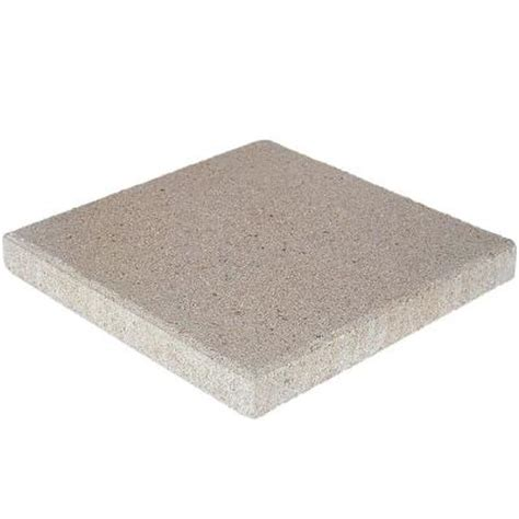 16x16 patio pavers home depot pavestone 16 in x 16 in pewter concrete step 72600